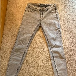 Forever 21 Gray Acid-Wash Skinny Jeans